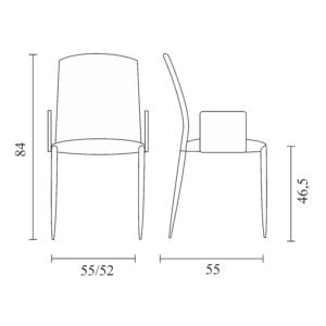 Delta armrests